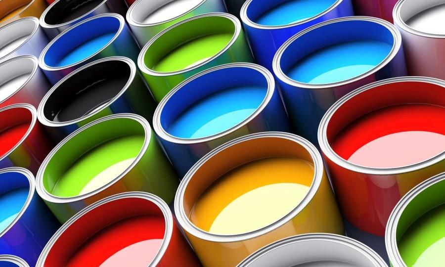 koła z farbą